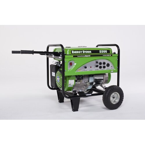 Energy Storm 5500 Watt Gasoline Generator with Wheel Kit