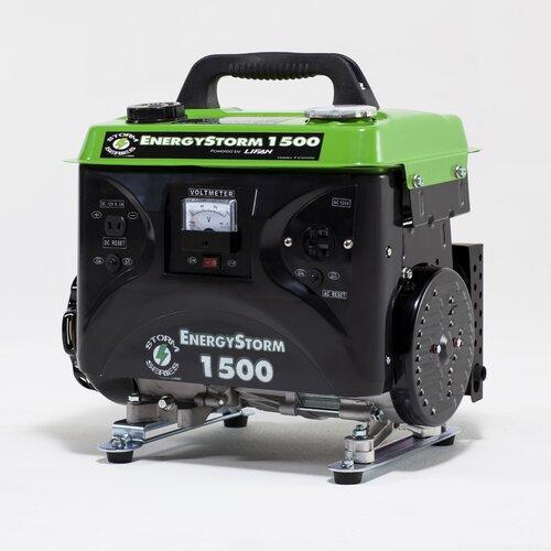 Energy Storm 1500 Watt Gas Generator with Recoil Start