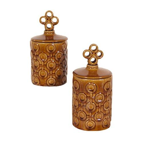 Howard Elliott 2 Piece Decorative Jar Set