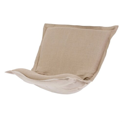 Puff Sable Chair Cushion in Prairie Linen Natural