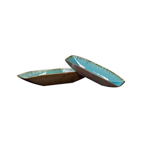 Trays in Sea Blue/Pewter (Set of 2)