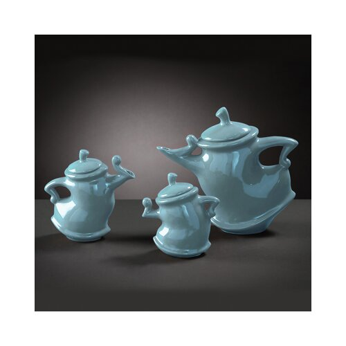 Howard Elliott Baby Teapots in Blue Glaze