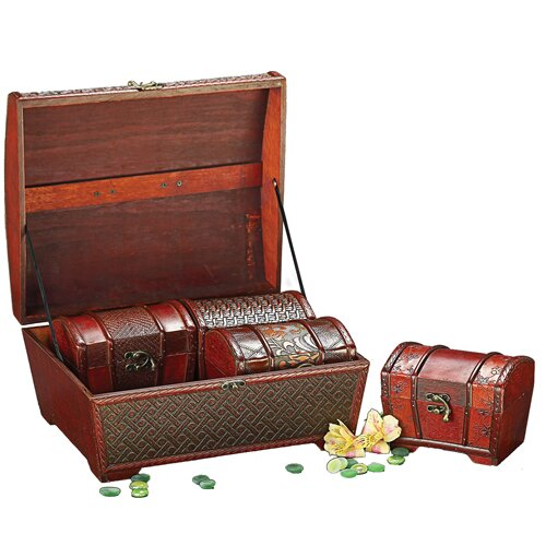 Howard Elliott 4 Piece Decorative Treasure Chest Box Set