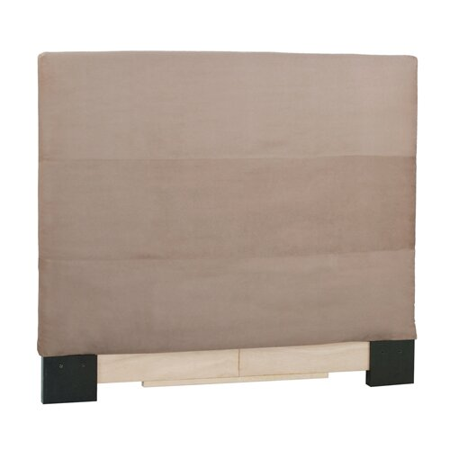 Slipcovered Microsuede Panel Headboard
