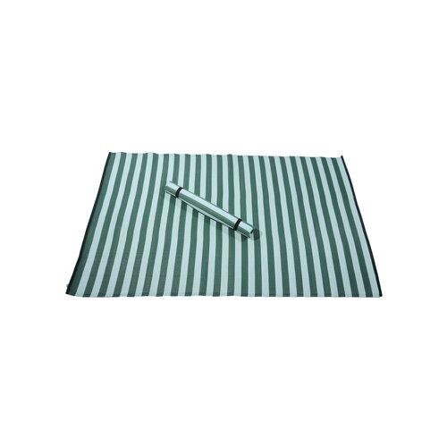 Evergreen Rugby Stripe Indoor/Outdoor Rug