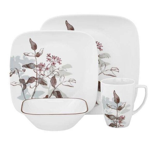 square 16 piece vitrelle glass dinnerware set wayfair uk