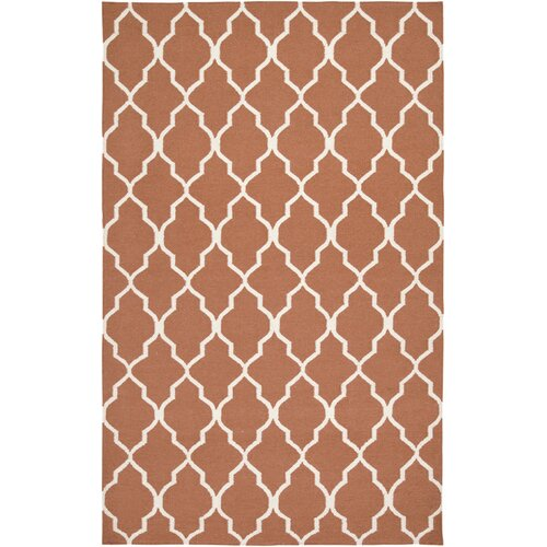 Rizzy Rugs Swing Orange Lattice Rug