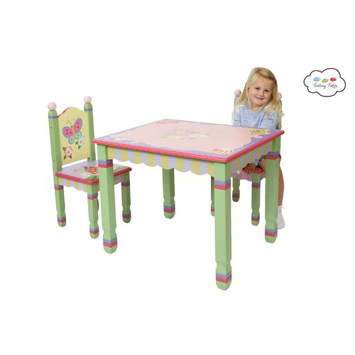 Fantasy Fields Magic Garden Kids 3 Piece Table and Chair Set