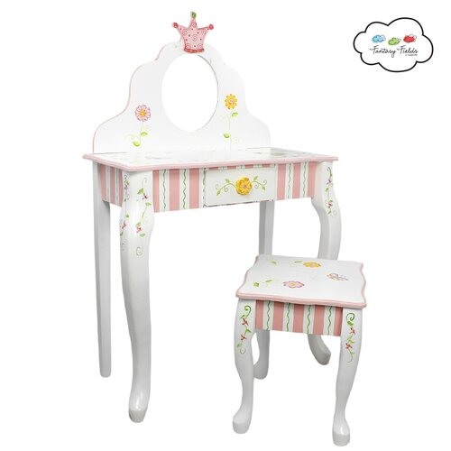 Fantasy Fields Princess and Frog Vanity Set with Mirror