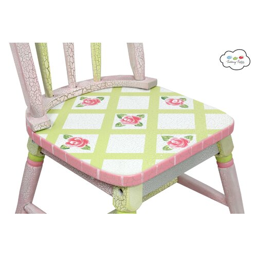 Fantasy Fields Crackled Rose Kids 3 Piece Table and Chair Set