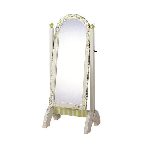 Fantasy Fields Alphabet Standing Mirror in White
