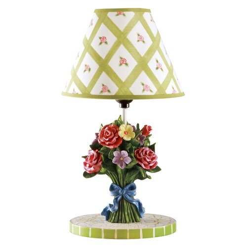 "Fantasy Fields Bouquet 16"" H Table Lamp with Empire Shade"