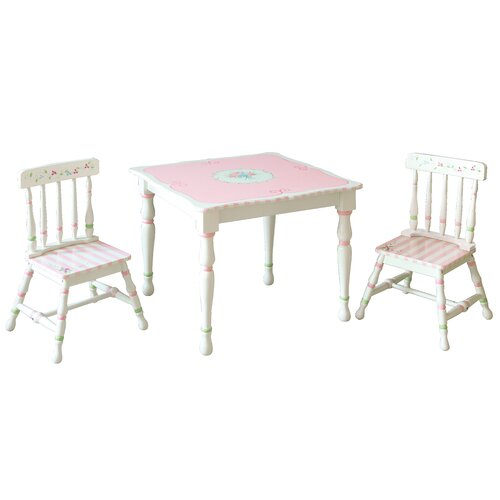 Fantasy Fields Bouquet 3 Piece Table and Chair Set