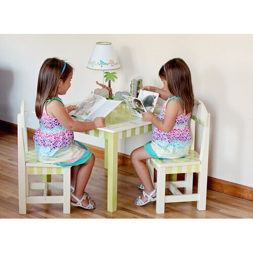 Fantasy Fields Alphabet Kids Writing Table and Chair Set