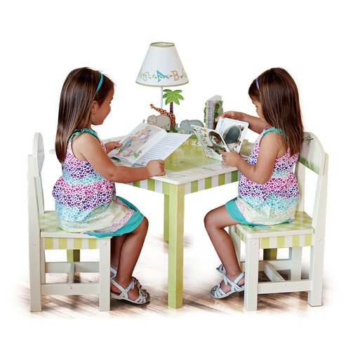 Fantasy Fields Alphabet Kids 3 Piece Table and Chair Set