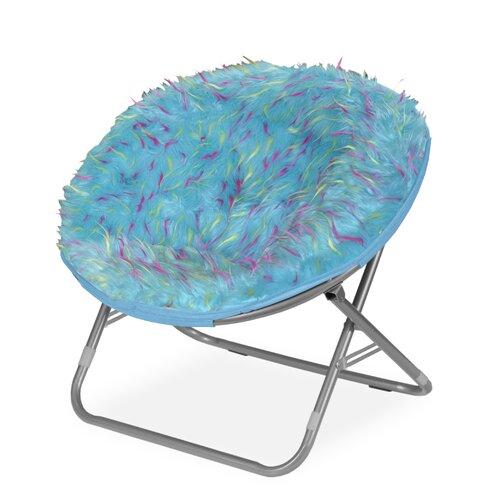 Rock Your Room Spiker Faux Fur Saucer Papasam Chair Wayfair
