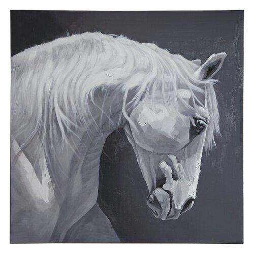 Wildon Home ® White Horse Original Painting