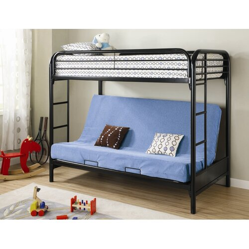 Wildon Home 174 Elsie Twin Over Futon Bunk Bed With Built In