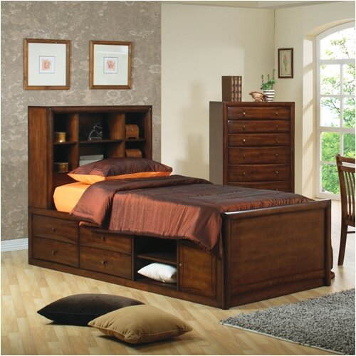 Wildon Home ® Scottsdale Storage Bed in Walnut