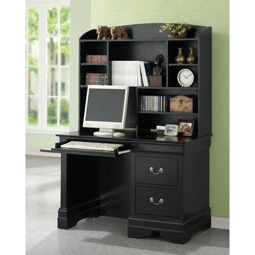 Wildon Home ® Hayden Louis Philippe Computer Desk and Hutch