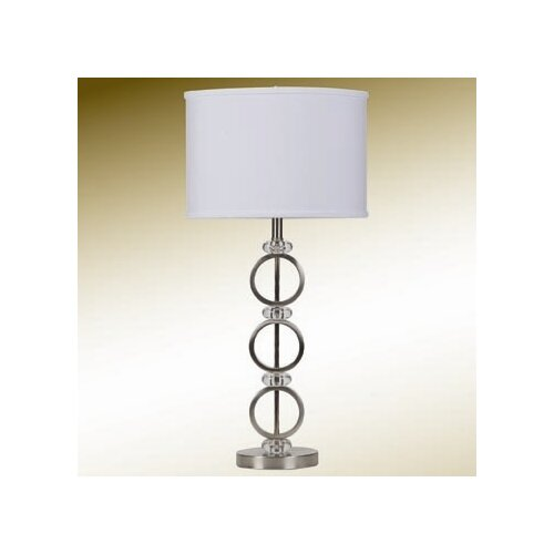 "Wildon Home ® 27"" H Contemporary Table Lamp with Drum Shade"