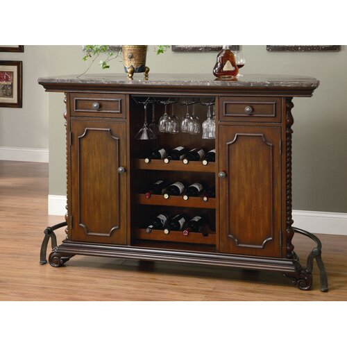 Wildon Home ® Cherry Flower Mound Home Bar