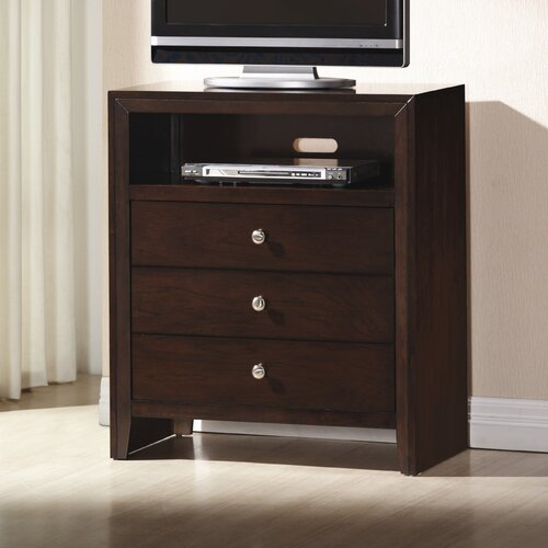 Wildon Home ® Detroit 3 Drawer Media Chest