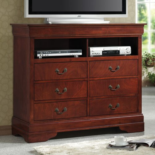 Wildon Home ® Fountain Hills Media 6 Drawer Chest