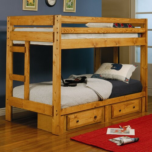 Wildon Home ® Navarro Twin over Twin Bunk Bed with Built-In Ladder