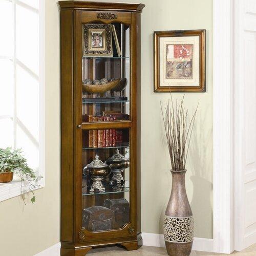 Wildon Home ® Eliot Corner Curio Cabinet