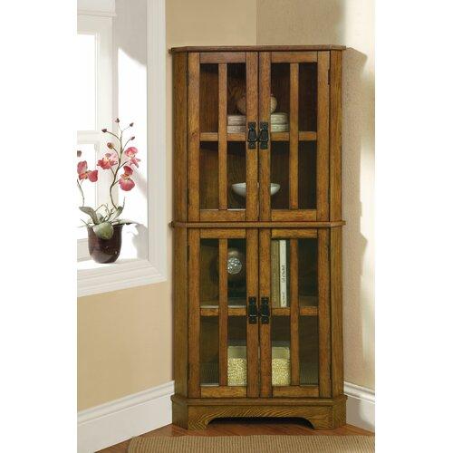 Wildon Home ® Corner Curio Cabinet