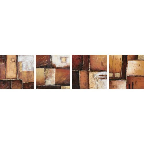 Wildon Home ® Earth Tones 4 Piece Original Painting on Canvas Set