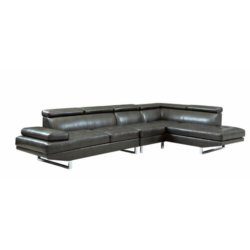 Wildon Home ® Howard Bonded Leather Sectional