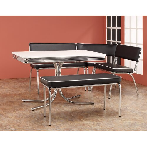 Wildon Home ® Retro Dining Set with Table, Corner Bench and Floating Bench