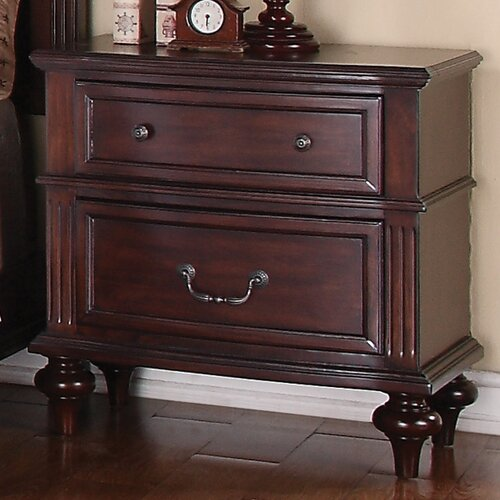 Wildon Home ® Virginia 2 Drawer Nightstand
