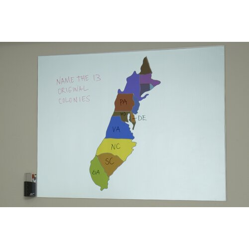 "Elite Screens Insta-DE Series Dry Erase White Board and Projection Screen - 4:3 Format 63"" Diagonal"