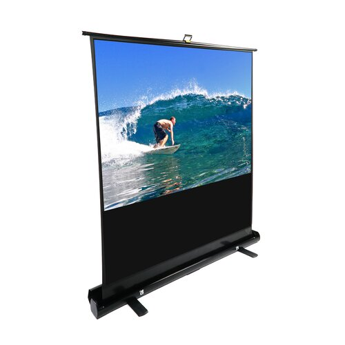 "Elite Screens MaxWhite 74"" Diagonal Portable Projection Screen"
