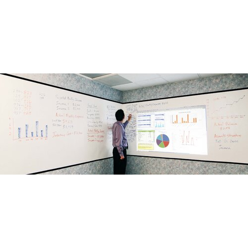 Elite Screens Insta-DE Series Dry Erase White Board and Projection Screen