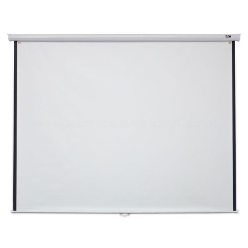 "Elite Screens Manual B Series MaxWhite 100"" Projection Screen"