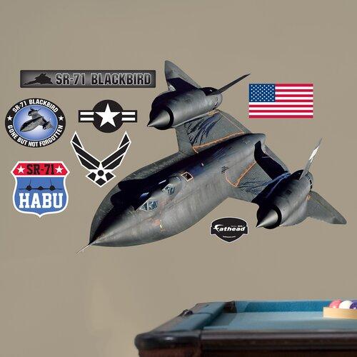 Military SR-71 Blackbird Wall Decal