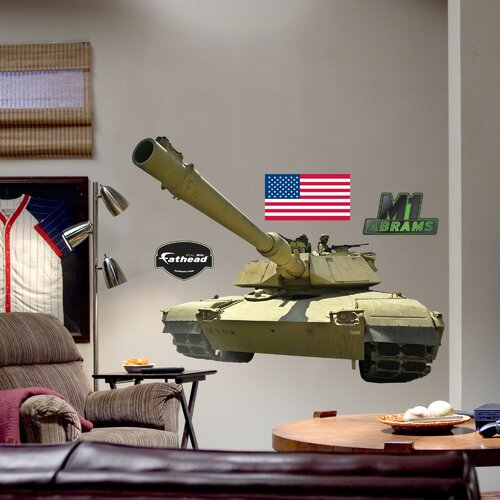 Fathead M1 Abrams Tank Wall Decal