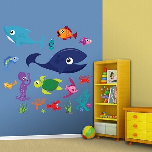 Sea Creatures Group One Wall Decal
