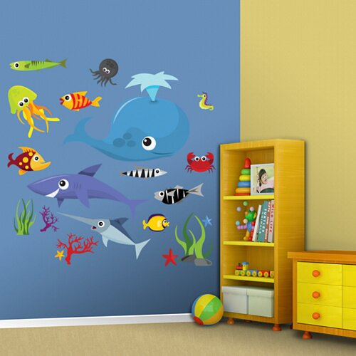 Sea Creatures Group Two Wall Decal