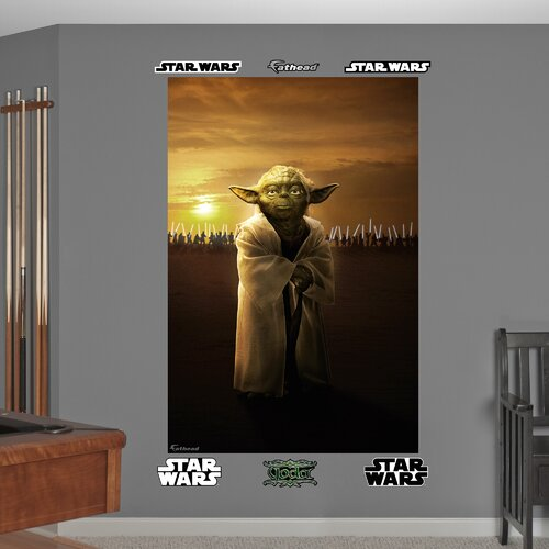Fathead Star Wars Yoda Jedi Knights Wall Mural