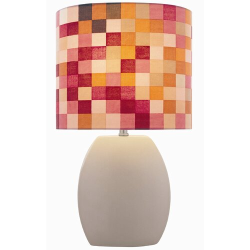 "Lite Source Ceramic 17"" H Checkered Table Lamp"