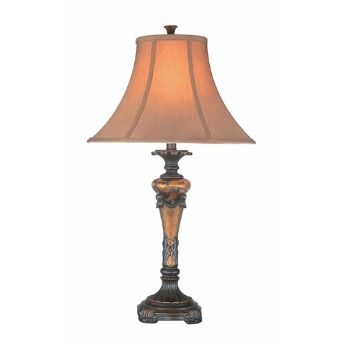 "Lite Source Muir 29"" H Table Lamp with Bell Shade"