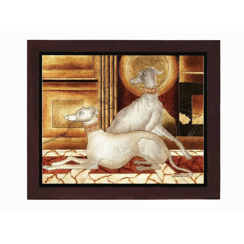 Lite Source Two Dogs Framed Graphic Art