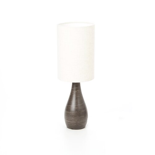 "Lite Source Quatro Mini Tapered 17.5"" H Table Lamp with Drum Shade"