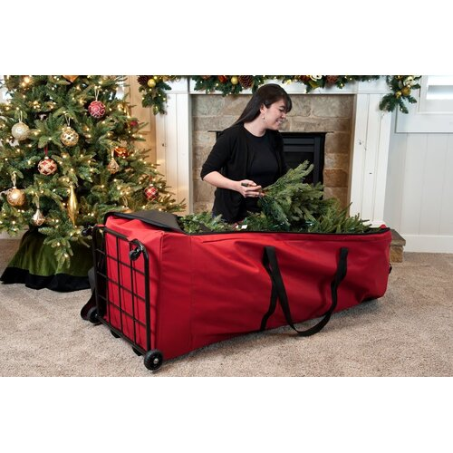 santa 39 s bags premium christmas tree dolly extra large storage bag wayfair. Black Bedroom Furniture Sets. Home Design Ideas