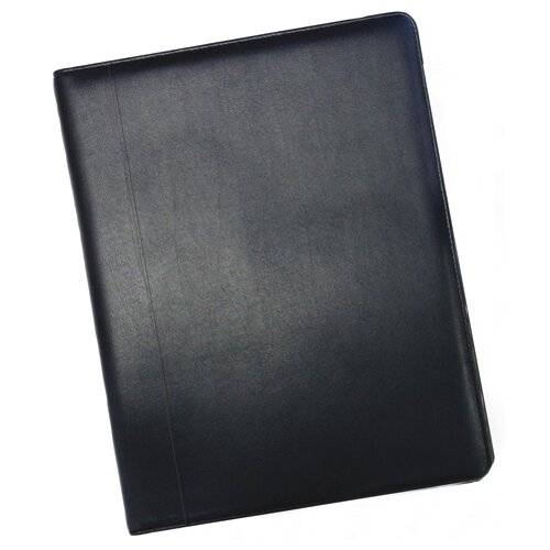 "Buxton 12.5"" Business Card Holder in Black  Leather Binder"